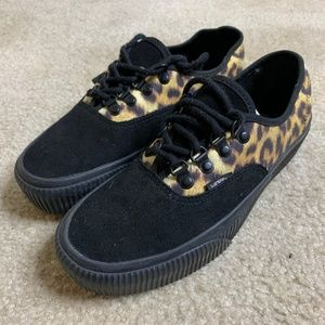 Vans Authentic Black Leopard Sneakers Size 9